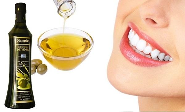 lấy cao răng bằng dầu oliu